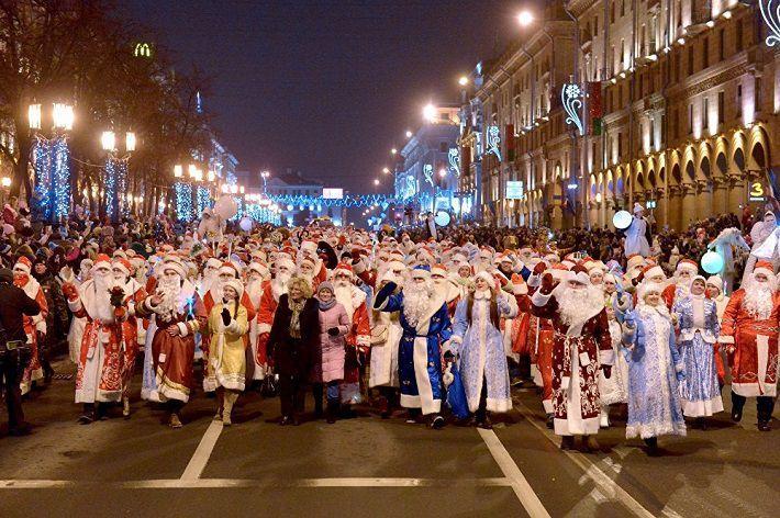 Перекрытие движения транспорта 20 декабря в связи с проведением праздничного шествия Дедов Морозов и Снегурочек!